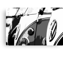 Splits in grey Canvas Print