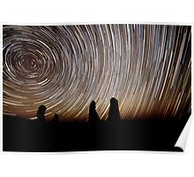 Pinnacles Star Trails Poster