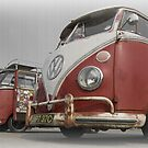 VW Bus line up by DubArt83