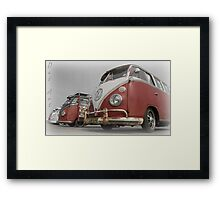 VW Bus line up Framed Print