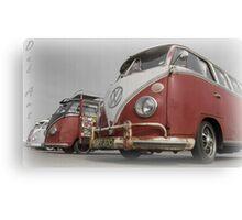 VW Bus line up Canvas Print