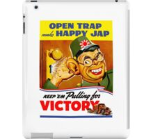 Keep Em Pulling For Victory - WW2 Propaganda iPad Case/Skin