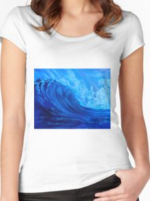 Tidal Wave Women's Fitted Scoop T-Shirt
