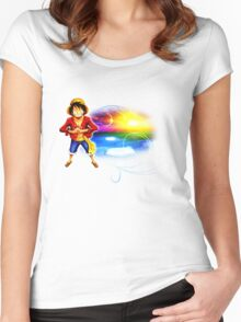 One Piece - Ruffy Women's Fitted Scoop T-Shirt