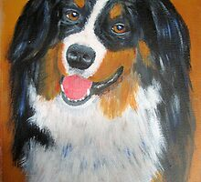 Bernese Mountain Dog by Woodie