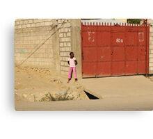 Red Garage Canvas Print