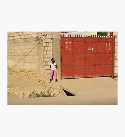 Red Garage Photographic Print