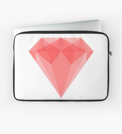Ruby Gemstone Illustration Laptop Sleeve