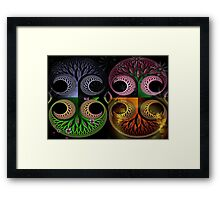 Winter, Spring, Summer, and Fall Framed Print