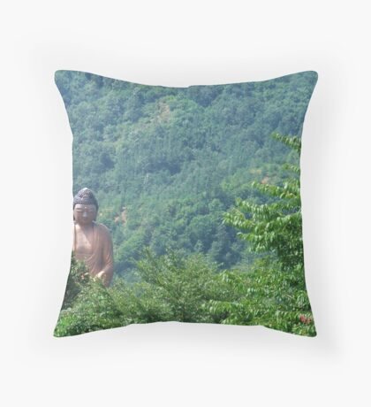 Compassion in the mountains Throw Pillow