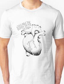 blood in my veins  Unisex T-Shirt
