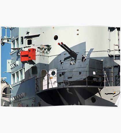 Guns on HMS Belfast Poster