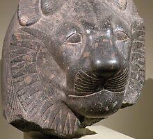 Head of Sekhmet {1391-1353 BCE} by WonderlandGlass