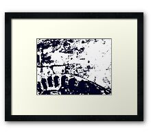 Two Women On The Bridge. Abstract Photography. Framed Print