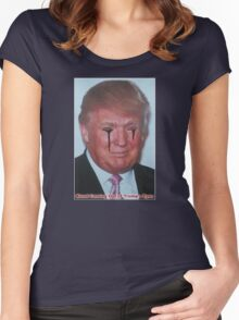 Blood Coming Out of Trump's Eyes Women's Fitted Scoop T-Shirt