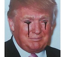 Blood Coming Out of Trump's Eyes by uniquesparrow