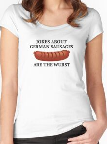 Jokes About German Sausages Women's Fitted Scoop T-Shirt