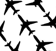 Flight Suit (Black Silhouette)  Sticker