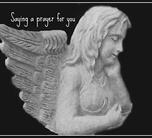 Angel Saying a Prayer For You by Marie Sharp