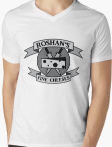 Roshan's Fine Cheeses Mens V-Neck T-Shirt