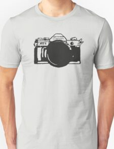 Canon AE-1 black and White Unisex T-Shirt