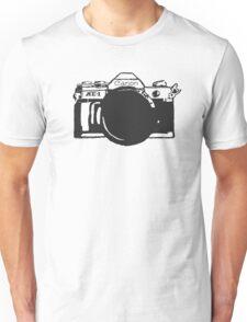 Canon AE-1 black and White Unisex T-Shirt