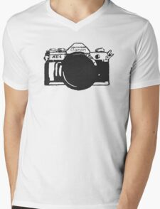 Canon AE-1 black and White Mens V-Neck T-Shirt