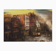 Fireman - Washington DC - Fire at Bedell's Bedding 1915 One Piece - Short Sleeve