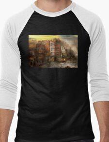 Fireman - Washington DC - Fire at Bedell's Bedding 1915 Men's Baseball ¾ T-Shirt