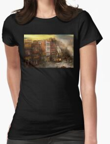 Fireman - Washington DC - Fire at Bedell's Bedding 1915 Womens Fitted T-Shirt