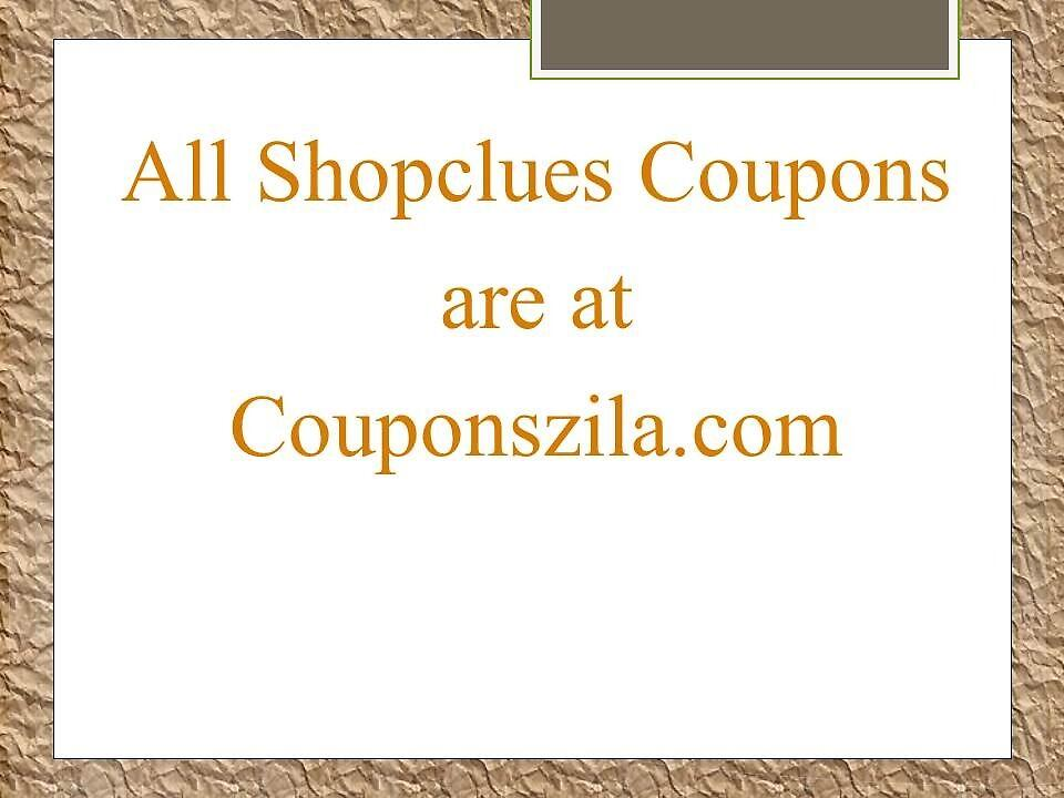 Discount coupons for shopclues