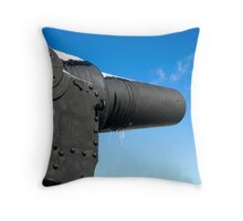 The Guns of Redoubt Throw Pillow