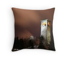 Night at the Dingle Tower Throw Pillow