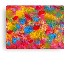 Blooming Meadow. Vibrant Colours Pattern Canvas Print