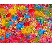 Blooming Meadow. Vibrant Colours Pattern Photographic Print