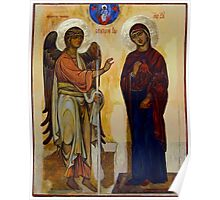 Annunciation of Ustyug. Greek style orthodox icon copy (XIIc). Poster
