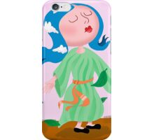 Cloud hair girl iPhone Case/Skin