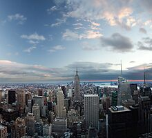 Top of the Rock vrs the Empire State by DamianBrandon