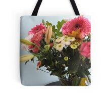 Fuchsia, White & Teal With Love Tote Bag