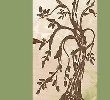 Young Willow Tree, Going With the Flow by ArtByDrax