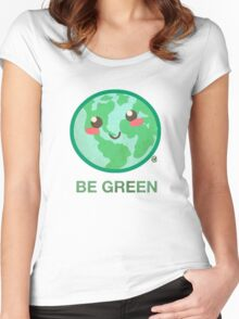 BE GREEN Women's Fitted Scoop T-Shirt