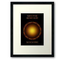 Bioshock infinite eye-bird Framed Print