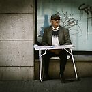 The Blind Book Vendor by damien-c