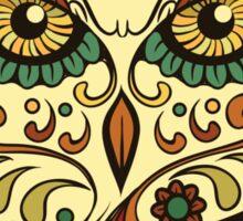 Calavera Owl Sticker