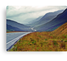 A Winding Road To Stormy Clouds Canvas Print