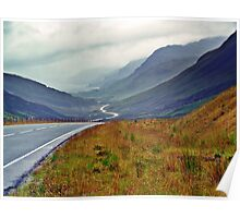 A Winding Road To Stormy Clouds Poster