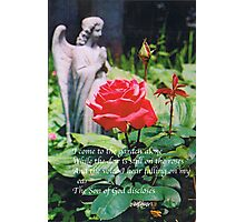 Angel with Roses 2 Photographic Print