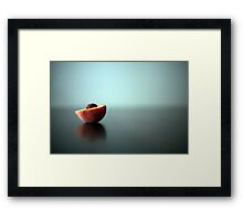 Reflective Peach Framed Print