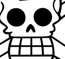 one piece dr hiluluk chopper jolly roger anime manga shirt Sticker