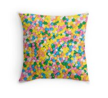 Candy Sprinkles Background Throw Pillow